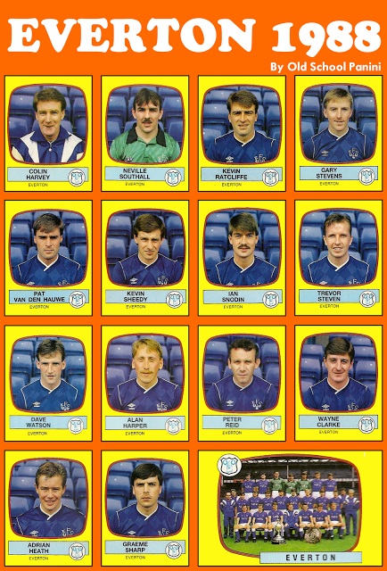 Planche Panini Everton 1987-88