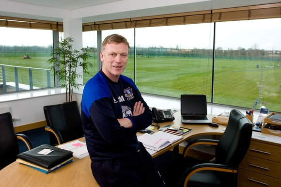 Moyes in his office