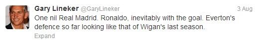 Lineker tweet